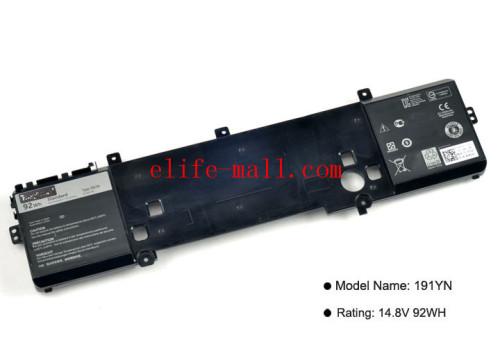 New 191YN Laptop Battery For DELL Alienware 15 R1 15 R2 ALW15ED-1828 ALW15CD-1718 ALW15ER-3718 2F3W1 14.8V 92WH