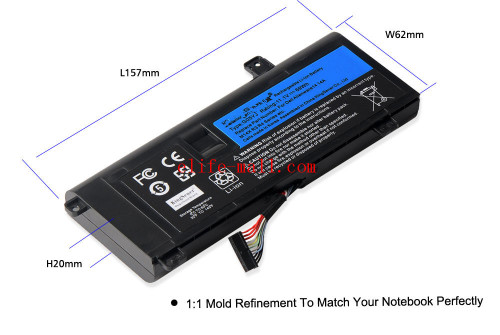 Cell G05YJ Laptop Battery For DELL Alienware M14X R3 R4 A14 14D Series 14D-152 0G05YJ P39G 8X70T 11.1V 69WH