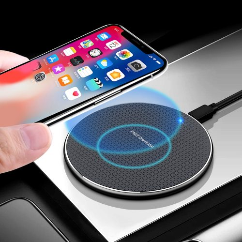 18W  Wireless Charger Receiver for iPhone Xs Max X 8 Plus Fast Charging Pad for Samsung Note 9 S10 Plus chargeur sans fil