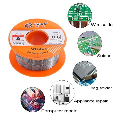 0.8mm 100g Tin Welding Wire Melt Rosin Core Solder Wire 63/37 Flux 2.0% 0.8/1/1.2/1.5/2mm Soldering Iron Tin 30g 50g