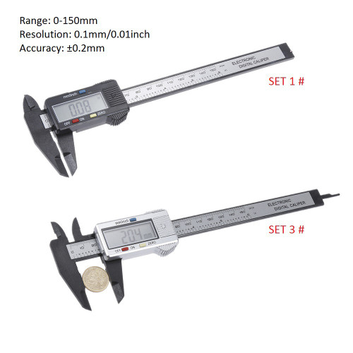 150mm 100mm Electronic Digital Caliper 6 Inch Vernier Caliper Gauge Micrometer Measuring Tool Digital Ruler with Battery