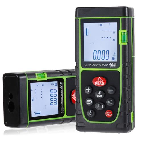 40M Laser Rangefinder Digital Laser Distance Meter Battery-Powered Laser Range Finder Tape Distance Measure