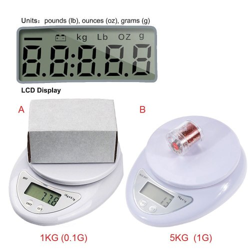 Digital Scale 5KG 1KG Electronic Mini Pocket Scale 1g 0.1g Precision Steelyard for Kitchen Food Balance Scales