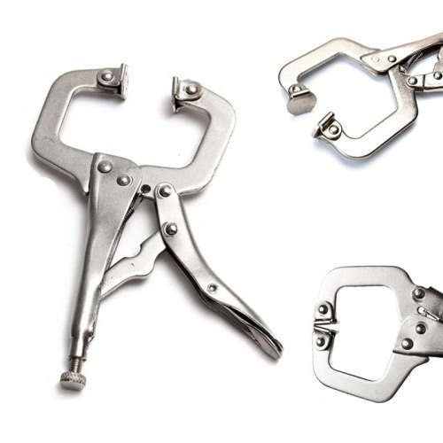 C Clamp weld Clip Woodwork Fix Plier Pincer Tong Tenon Grip Vise Lock Jaw Swivel Pad Locator Wood Work Alloy Steel Hand tool
