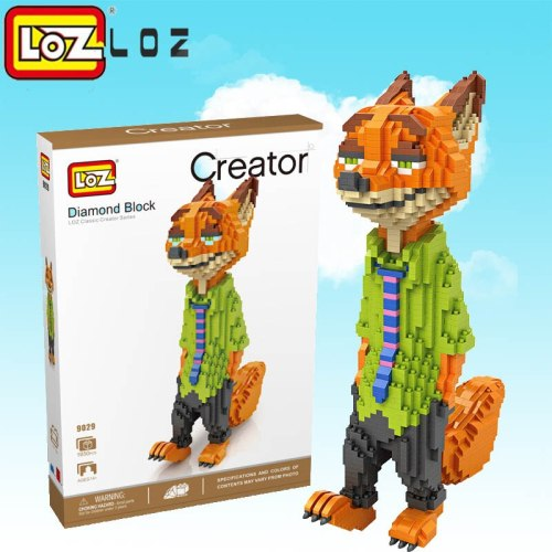 LOZ Big Size  Building Blocks  Toys  Action Figures  Large size Fox and rabbit  toys  for children