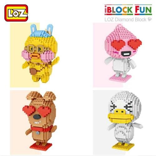 LOZ Mini Qute animal dog duck cartoon kids gift Plastic Cube diamond Building Block Brick action figures Educational
