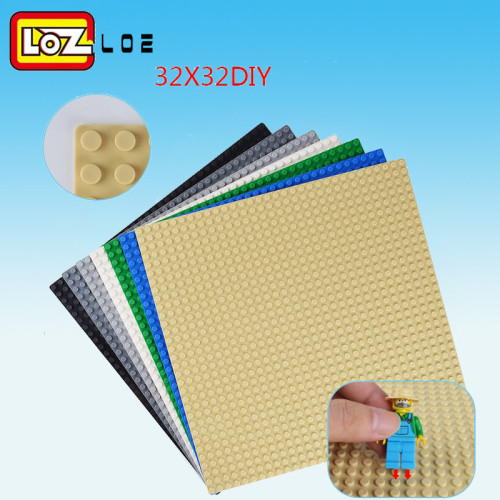 Compatible with most of brand except loz  Colors 32*32 Dots Base Plate For Small Bricks Baseplate Board DIY Building Blocks