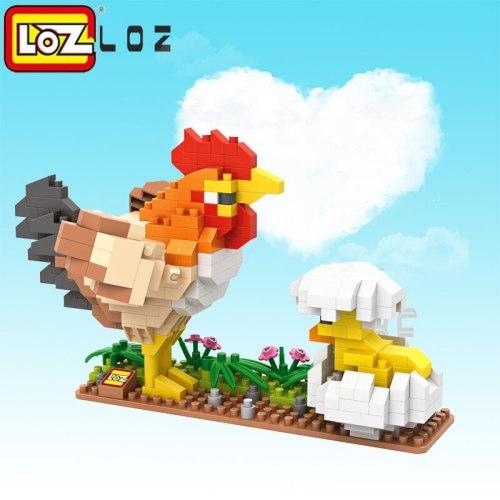 LOZ Birds Diamond Blocks Model Hen Chick Peacock Eagle Parrot Assemblage Toys for children Model Blocks DIY 3D Animals