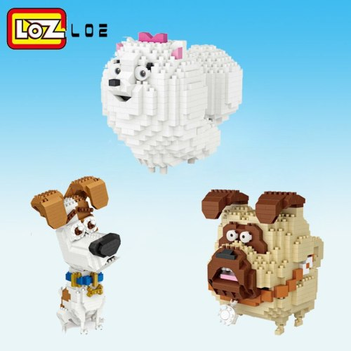 LOZ  Diamond Block DIY 3D Dog Building Brick Model Birthday Gifts Present Toys for children Beauty sheep Animal