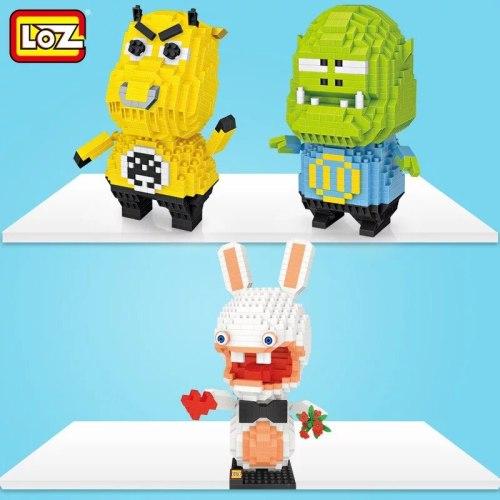 LOZ  rabbit  cartoon animal plastic diamond building blocks  figures educational toy
