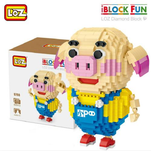 LOZ Qute  Anime diamond block plastic cute building blocks toys bricks educational Action Figures Toys for Children