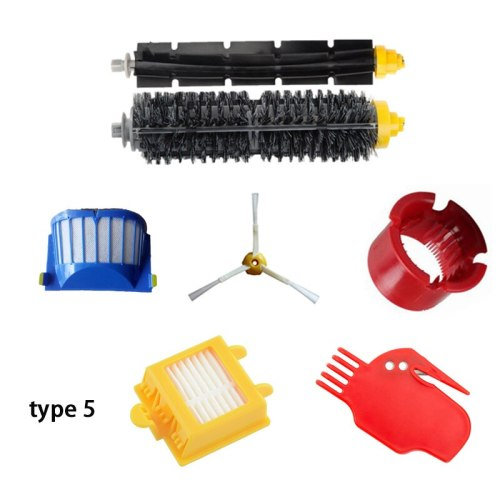 Bristle & Flexible Beater Brush 3 Armed Brush Aero Vac Filters kit for iRobot Roomba 600 Series 620 630 650 660 Cleaner Accessor