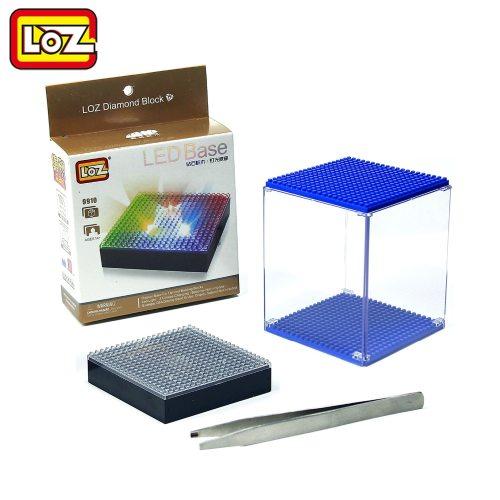 LOZ Diamond Building Blocks LED Display Base Transparent Display Box Multicolor Compatible With Wisehawk QCF LOZ No Box