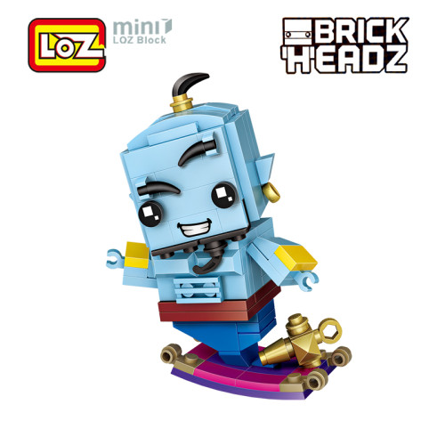 LOZ Aladdin Lamp Genie Toys Model Mini Building Blocks 125Pcs Brick Head Action Figure For Age 6+ Offical Authorized 1447