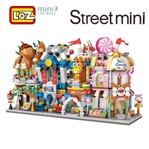 LOZ Mini City Street View Scene Mini Building Blocks Candy Shop Game Room Toy Store Nut shop Architectures Models & Building Toy