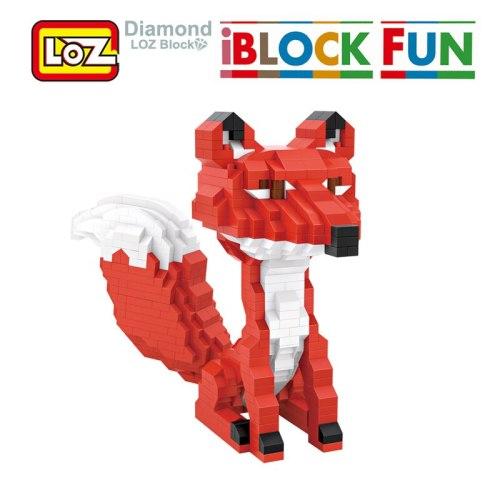 LOZ Red Fox Diamond Blocks Toys Miniature Animals Cartoon Blocks Building Figurines Birthday Gift For Children Women Girl Friend