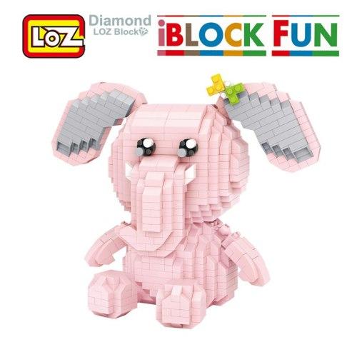 LOZ Elephant Monckeychi Diamond Blocks Toys Miniature Building Figurines I Block Fun Birthday Gift For Children Boy Girl Friend