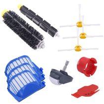 New AeroVac filter, side brush, bristles and flexible mixer agitator for irobot roomba 600 610 620 625 630 650 660
