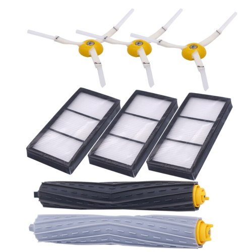 1 set of garbage collection extractor brush + 3 hepa filters + 3 side brushes for IROBOT Roomba 800 900 series sweeping robot