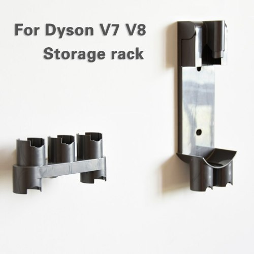 New 2pcs Accessories Storage rack Equipment Shelf for Dyson V7 V8  Absolute Brush Tool Nozzle Base Bracket vacuum  Cleaner Parts