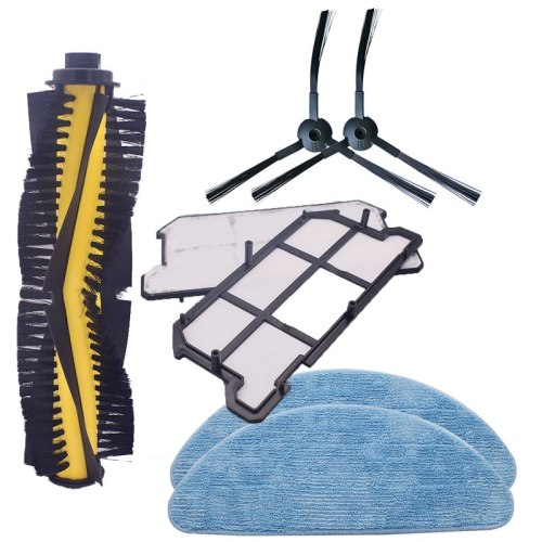 Roller brush + filter + side brush + mop cloth for ILIFE V7 vacuum robot vacuum cleaner parts replacement kit spare