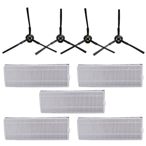 New 5*hepa filter +4* side brush for ilife A9S A7 robot vacuum cleaner sponge filter spare parts