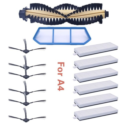 Main brush filter for side brush HEPA kit for replacement of spare parts for ILIFE A4 A4s A40 robotic vacuum cleaner