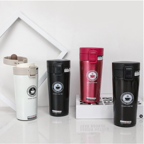380ml Double Stainless Steel Coffee Mug Thermos Portable Vacuum Flask Vacuum Flask Car Hot Water Leisure Hot Tea Cup Travel Mug