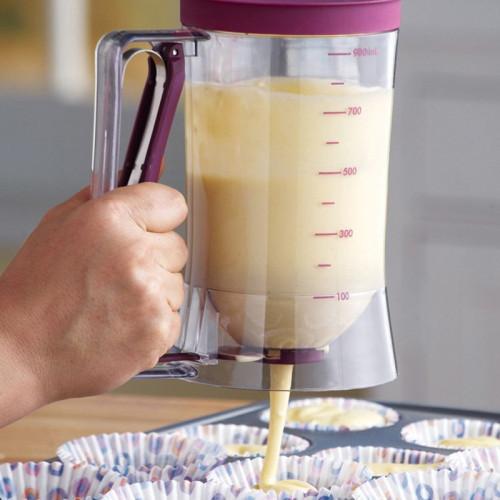 900ml Cake Dough Dispenser With Measuring Label Baking Cake Pancake Biscuit Cake Muffin Waffle Baking Separator Measuring Cup