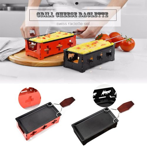 Barbecue Milk Cheese Set Portable Non-Stick Grill Baking Tools Kitchen Household Mini Baking Pan Grilling Microwave Use Tool