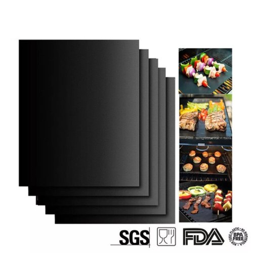 Non-stick BBQ Grill Pad Extra Thick Heat Resistant BBQ Grill Mat Reusable Non-Stick Barbecue Grilling Sheet BBQ Mat Tools