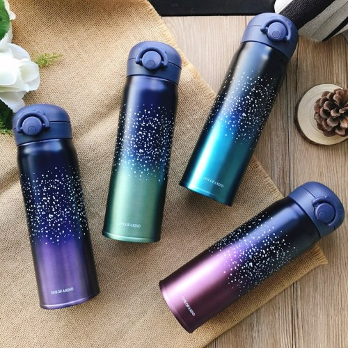 500ml New Double Insulation Cup Coffee Tea Milk Travel Cup Stainless Steel Convenient Car Mug Leak Proof Travel Thermo Cup Gift