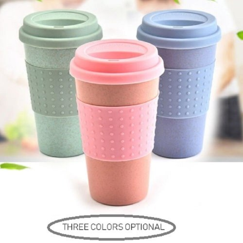 Silicone Coffee Mug Environmentally Friendly Wheat Straw Mug Outdoor Drink Cup Travel Mug Cups And Mugs Tea Mug Christmas CuP