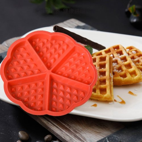 Non-Stick Food Grade Silicone Waffle Mold Cake Chocolate Candy Mold Kitchen Baking Tray High Temperature Baking Tool Accessories