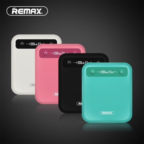 REMAX PINO Power Bank 2500mAh 9.5Wh Mini Portable Charger Polymer Battery External Battery Pack Power Bank with micro usb cable