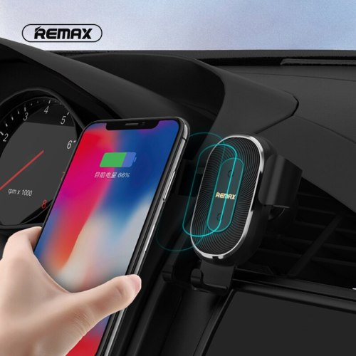 Remax 10W Wireless Charger Car Phone Holder for iPhone Samsung Qi Car Wireless Charger Air Vent Mount Mobile Phone Holder Stand
