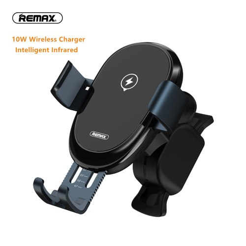 Remax Qi Wireless Car Charger For iPhone Xs Max Xr X Samsung S10 S9 Intelligent Infrared Fast Wirless Charging Car Phone Holder
