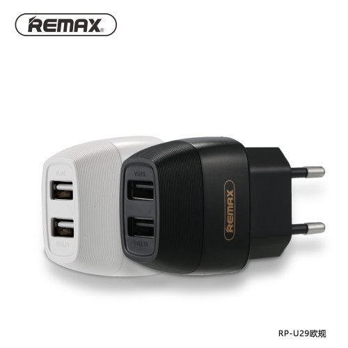 REMAX 5V 2.1A Dual USB port Charger Plug Travel Wall phone EU/UK Charger Adapter Fast Charging for iphone7 xiaomi redmi