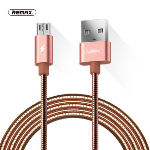 REMAX Metal Spring Micro USB Data Sync Cable 2.1A Dual side USB Charger Cable for samsung Xiaomi huawei 8 pin cable for iphone x