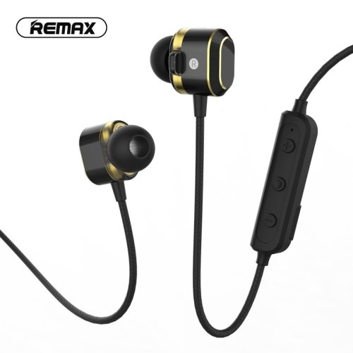 remax dual moving coil Waterproof sport wireless headsetbluetooth 5.0 Magnetic hifi earphone with Mic For iPhone XR Samsung