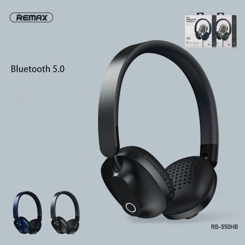 New Arrival High-quality Headphones Remax 550H Bluetooth 5.0 Headset Foldable HIFI Music Style For iPhone Xiaomi Huawei