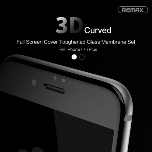 Remax 9H CRYSTAL 3D Curved For iPhone 7 7 Plus Full Cover Tempered Glass Curved 3D Screen Protector Explosion-proof Anti Scratch