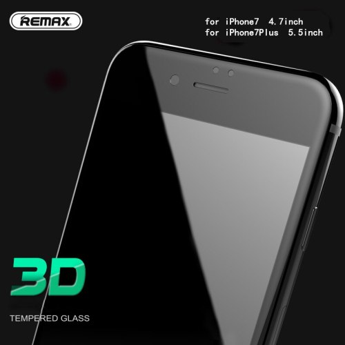 Remax 0.3mm Full Screen Protector Tempered Glass 1080P HD 3D Arc Soft Edge Glass Film for iPhone7 7plus Glass Film Shield