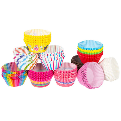 Mini Rainbow Color 100pc Cupcake Liner Baking Cup Cupcake Paper Muffin Cases Cake Box Egg Tarts Tray Kitchen Accessories Tools
