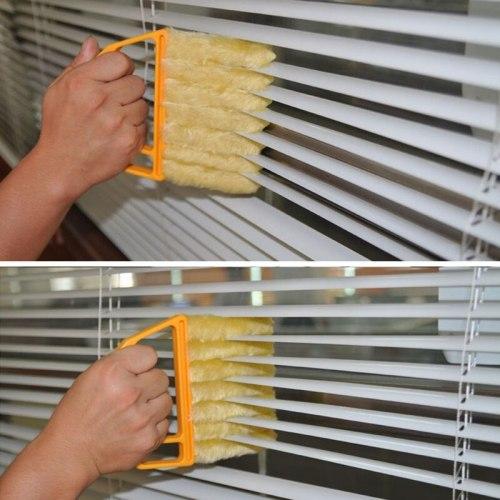 Household window cleaner microfibre venetian blind blade cleaner dust brush cleaner washable vents clean brush