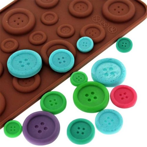 silicone cake mold chocolate mold cookies mold 3D Cute button shape cake decoration tools kitchen accessories navidad silicone