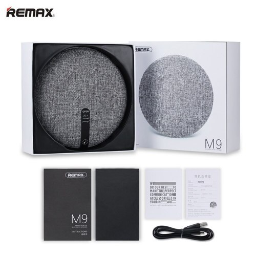 Original REMAX M9 HIFI Bluetooth Speakers V4.1 1800Mah Hands-free Remote Portable Wireless Bluetooth Speaker for Iphone iOS PC
