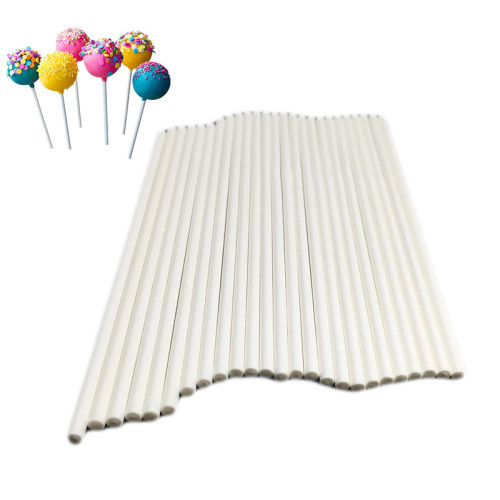100Pcs/Pack 2 Styles Plastic Lollipop Stick Cake Pop Sticks Kitchen Accessories Chocolate Sugar Candy Lollipop DIY Mold Tool