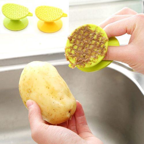 Carrot Yam Potato Brush Ginger Peeler Cleaner Brush Plastic Scraper Fruits Vegetable Brushes Easy Cleaning  Kitchen Accessories