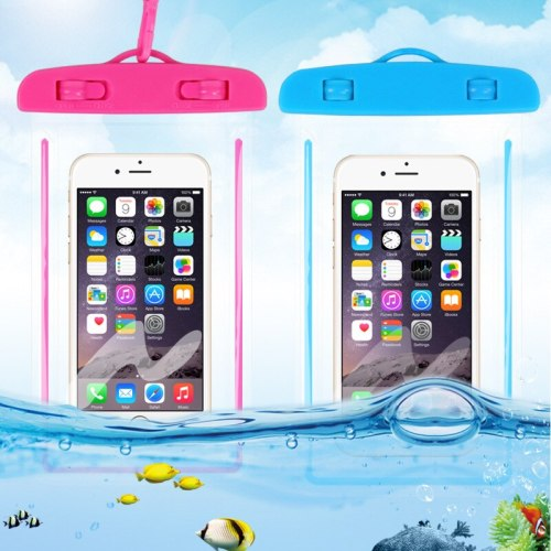 Portable Waterproof Phone Case Pouch Underwater Dry Bag With Neck Strap Luminous Swimming Bag For Water Games Beach Sport Skiing
